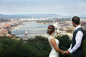 Newlyweds in Budapest