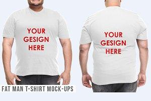 Fat Man T-Shirt Mock-Ups