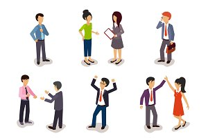 Several People Isometric 3D, Vector