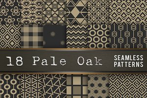 Pale Oak Seamless Pattern