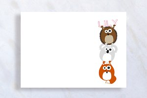 Cute Personal Baby Stationary Card