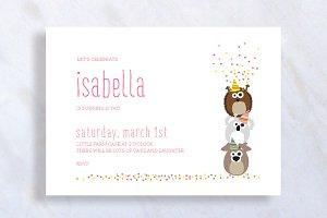 Cute Birthday Confetti Invitation