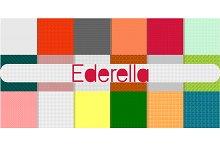 Set of seamless pixel patterns