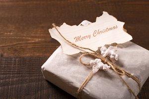 vintage gift box for christmas