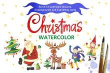 Christmas watercolor