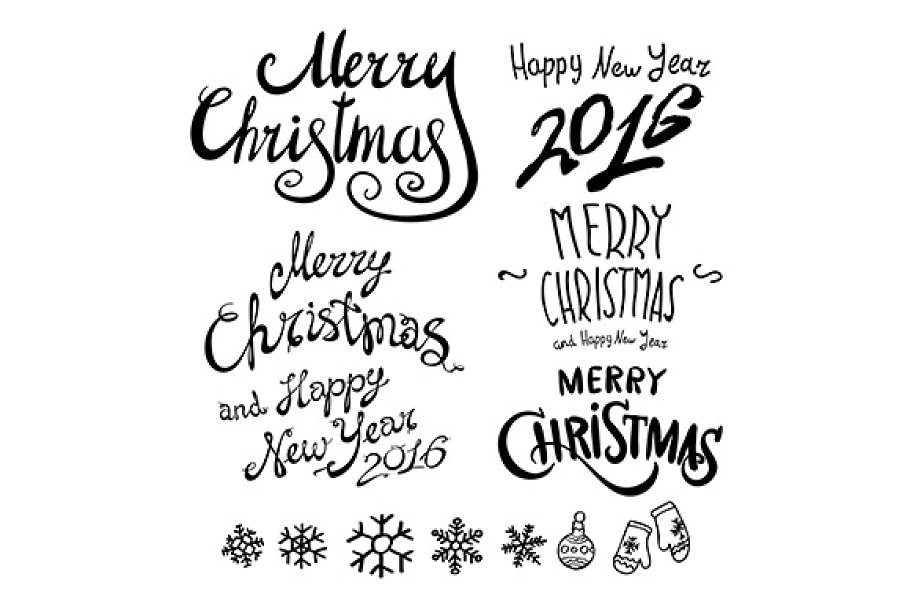 merry christmas calligraphy pre designed illustrator graphics creative market creative market