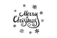 Merry Christmas calligraphy. vector