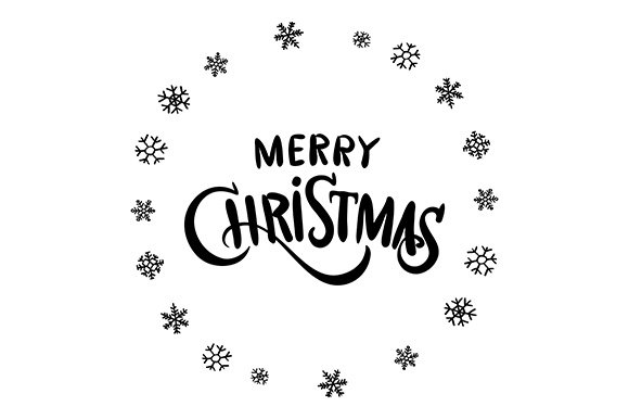 Merry christmas calligraphy vector graphics creative