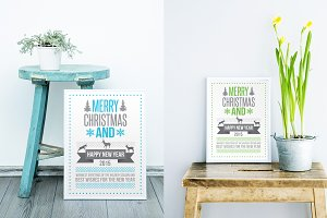 Christmas card typography design