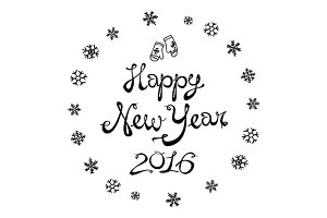 Happy New Year 2016. Vector