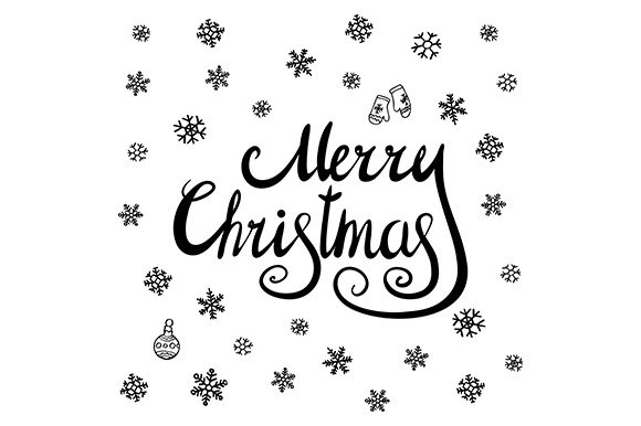 Merry Christmas calligraphy. vector - Graphics