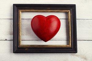 Framed heart symbol