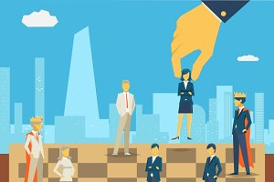 Corporate business chess