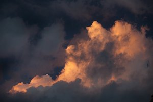 Sunset Cloud on Stormy Sky
