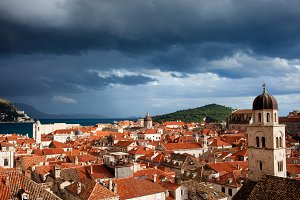 Stormy Sky Above Dubrovnik City