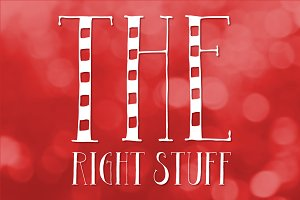 The Right Stuff Mini Font