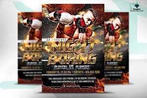 Night Boxing Flyer Template