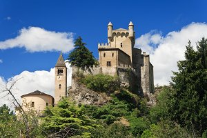 Saint Pierre castle, Aosta, Italy