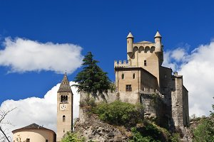 Saint Pierre castle, Italy