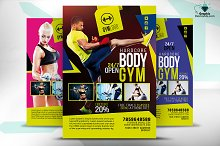 Gym Fitness Flyer PSD
