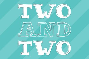 Two & Two Mini Font