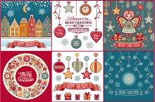 Christmas cards. Bundle. Bonus