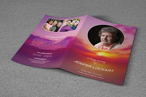 Funeral Program Template-T322