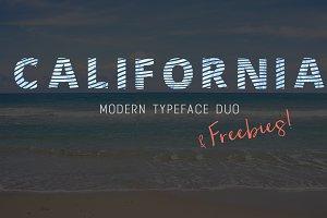 California - Font & freebies!