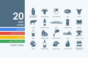 20 milk icons