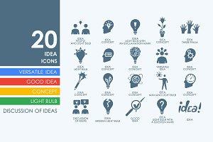 20 idea icons