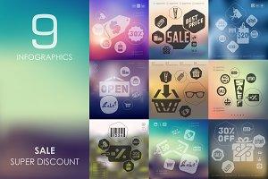 9 sale infographics