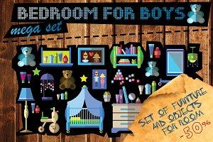Set of furniture for children room