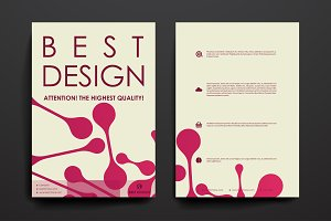 Set of Beautiful Brochures