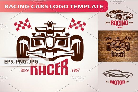 Racing Cars Logo Template Logo Templates Creative Market