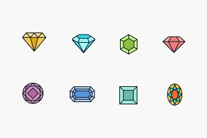 8 Diamond Icons