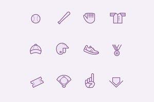 12 Baseball Icons