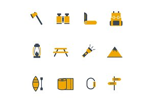 12 Camping Icons