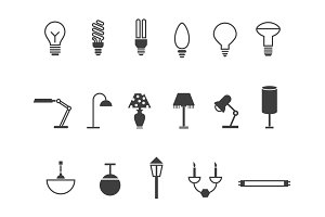 18 Lamp and Light Icons