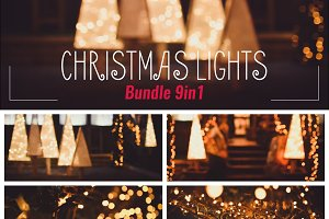 Unique Christmas Lights Photo Pack