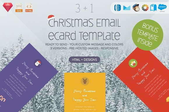 christmas email ecard html designs email templates creative market