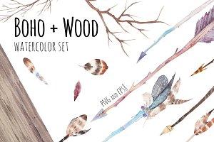 Boho + wood
