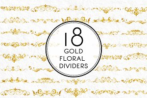 Gold Floral Dividers