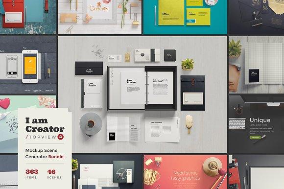 I Am Creator Topview Product Mockups Creative Market