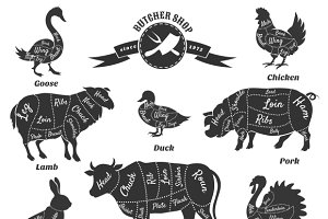 Diagrams for butcher shop