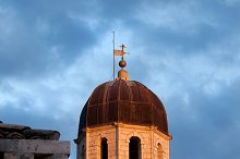 Franciscan Monastery Tower at Sunset