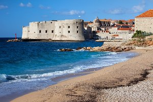 Sea Beach at Dubrovnik Old Town
