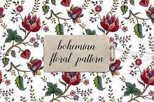 Bohemian floral pattern