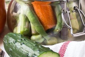Healthy eating fresh vegetables