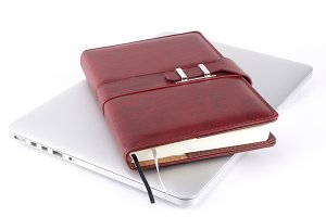 Notebook on a laptop