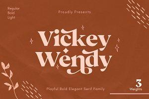 Vickey Modern Vintage Typeface